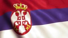 Serbia Flag Loop Video Animation 4K Stock Footage
