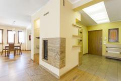 Modern interior of spacious house Stock Photos