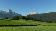 4K The Alps Mount Watzmann in idyllic landscape Berchtesgaden National Park Stock Footage