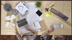 Professional Designers Working Together Stock Footage
