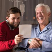 Relation between father and son Stock Photos