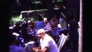1971: picnic in forest area is seen OMAHA, NEBRASKA Stock Footage