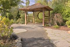 Japanese garden in Gresham Oregon. Stock Photos