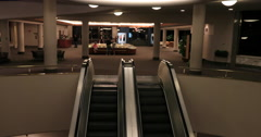 LDS Church visitor center open to public Escalator DCI 4K Stock Footage