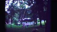 1971: three people arrive at picnic OMAHA, NEBRASKA Stock Footage