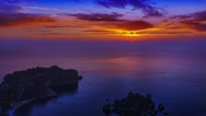 Sunrise isolabella taormina timelapse Stock Footage