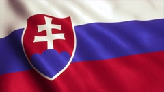 Slovakia Flag Loop Video Animation 4K Stock Footage