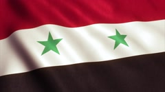 Syria Flag Loop Video Animation 4K Stock Footage