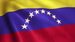 Venezuela Flag Loop Video Animation 4K Stock Footage