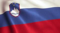 Slovenia Flag Loop Video Animation 4K Stock Footage