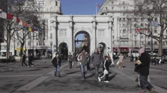 Marble Arch London Stock Footage