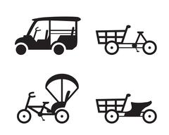 Traditional vehicle icons in Thailand Stock Illustration