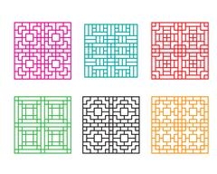 Japanese ornament for door, window, wall and fence Stock Illustration