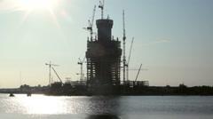 "Skyscraper ""Lakhta Center"" Under Construction Stock Footage"