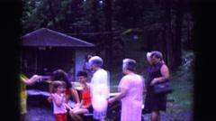 1971: outdoor family gathering at park OMAHA, NEBRASKA Stock Footage