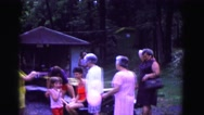 1971: outdoor family gathering at park OMAHA, NEBRASKA Stock Footage
