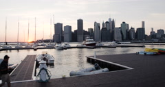 New York City Yacht Club - summer 2016 - 4k Stock Footage