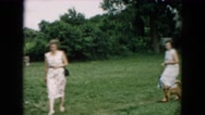 1957: visiting grandpa on his farm HICKSVILLE, NEW YORK Stock Footage