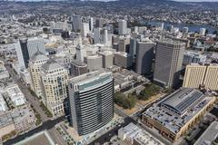 Downtown Oakland Aerial View Kuvituskuvat