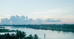 Dawn in the resort of Varadero Timelapse Stock Footage