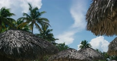 The movement of clouds in the sky resort of Varadero, the view from the roof to Stock Footage