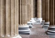Cathedral columns pattern Stock Photos