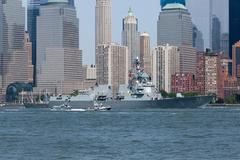 USS Bainbridge at Fleet Week Stock Photos