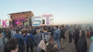 Concert on the beach Stock Footage
