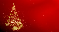 Christmas star with rotating christmas tree shape - red variant Stock Footage