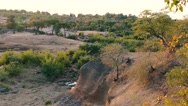Red rocks viewpoint Kruger national park evening Stock Footage