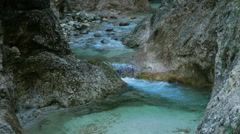 4K Alps Berchtesgaden national park Almbachklamm Gorge canyon valley Germany Stock Footage