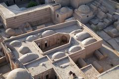 Aerial view of old town in Khiva, Uzbekistan Stock Photos