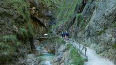 4K Alps Berchtesgaden national park Almbachklamm Gorge canyon valley Germany Stock Footage