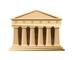 Greek temple icon isolated on white background Stock Illustration