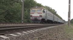 Kiev, Ukraine rapid movement of train. Stock Footage
