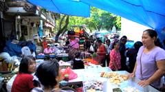 Bali, Indonesia - Urban scene of Asian street market  Stock Footage