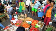 Bali, Indonesia - Urban scene of street market in Bali  Stock Footage