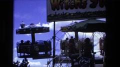 1974: an amusement park FORT WAYNE, INDIANA Stock Footage