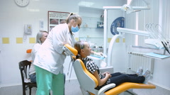 Little girl in dentistry Stock Footage