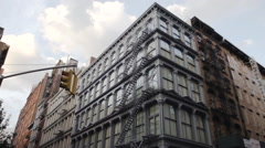 SOHO loft - wide angle - exterior Stock Footage