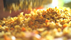 Preparation by hand of Basa gede using nutritious spices and chopping with Stock Footage