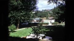 1974: beautiful home on large manicured estate FORT WAYNE, INDIANA Stock Footage