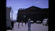 1974: walking toward the pottery and parking lot FORT WAYNE, INDIANA Stock Footage