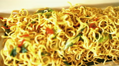Restaurant presentation of local Balinese fried noodles Mie Goreng displayed  Stock Footage