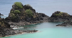 Paradise tropical beach. Idyllic Shore Beach With Turquoise Water. Stock Footage