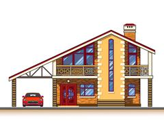 House cottage vector graphics Stock Illustration