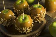 Homemade Organic Candy Taffy Apples Stock Photos