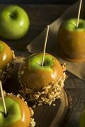 Homemade Organic Candy Taffy Apples Stock Photos