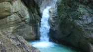 4K Alps Berchtesgaden national park Almbachklamm Gorge canyon valley waterfall Stock Footage