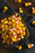 Sweet and Sugary Candy Corn Treats Stock Photos
